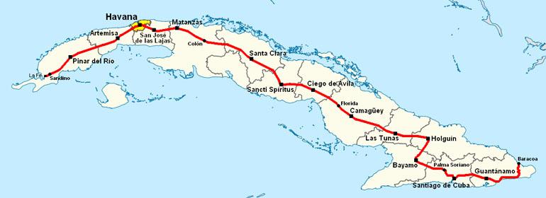 Navigatie in Cuba