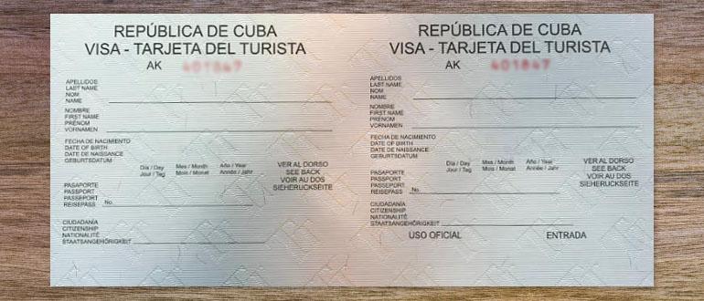 visum voor Cuba